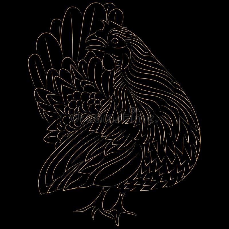 Дизайн цыпленка стилизованный стоковое фото rf