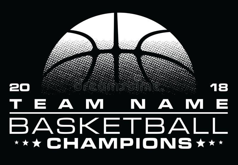 Дизайн чемпионов баскетбола с именем команды иллюстрация штока