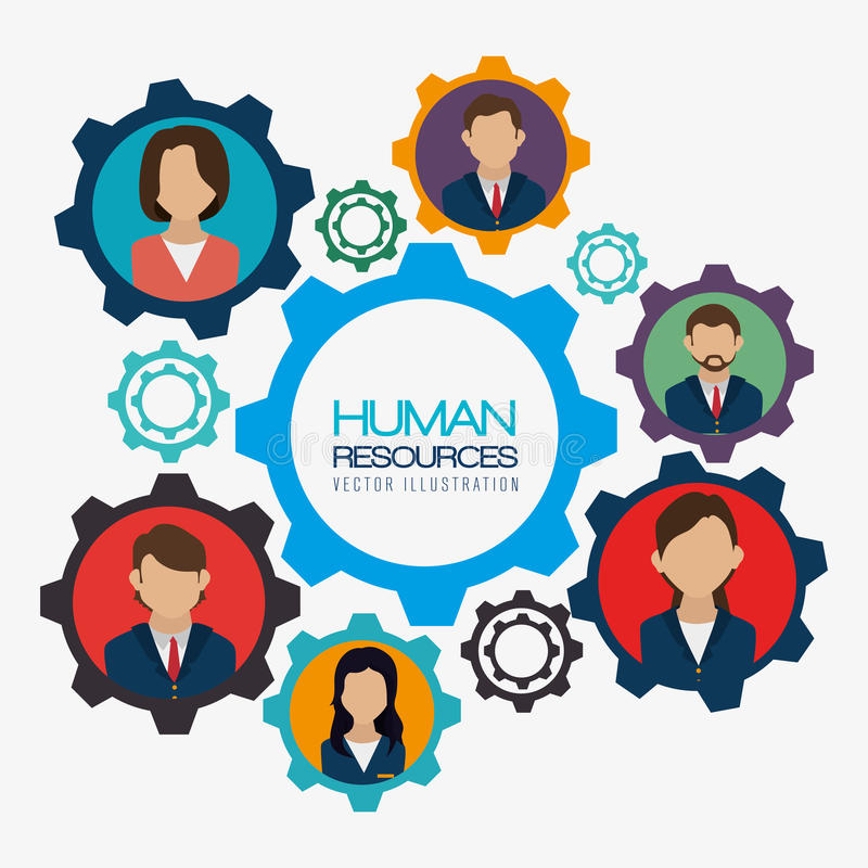Дизайн человеческих ресурсов иллюстрация штока