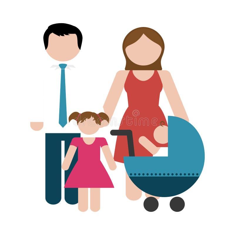 Download Дизайн членов семьи иллюстрация вектора. иллюстрации насчитывающей тип - 81800836