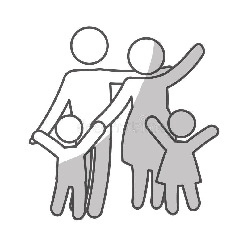 Download Дизайн членов семьи иллюстрация вектора. иллюстрации насчитывающей символ - 81801146