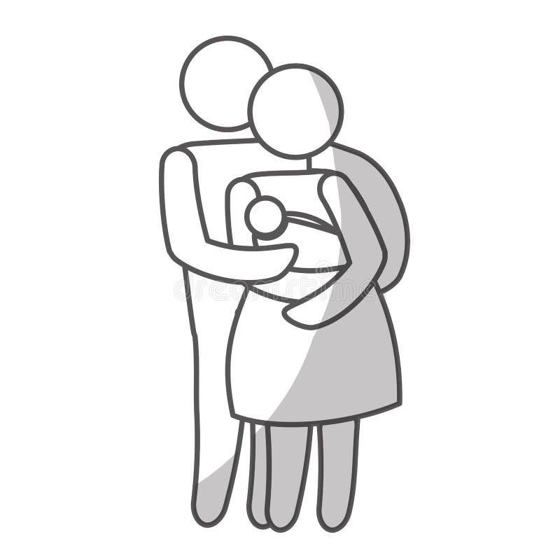 Download Дизайн членов семьи иллюстрация вектора. иллюстрации насчитывающей приглашение - 81801163