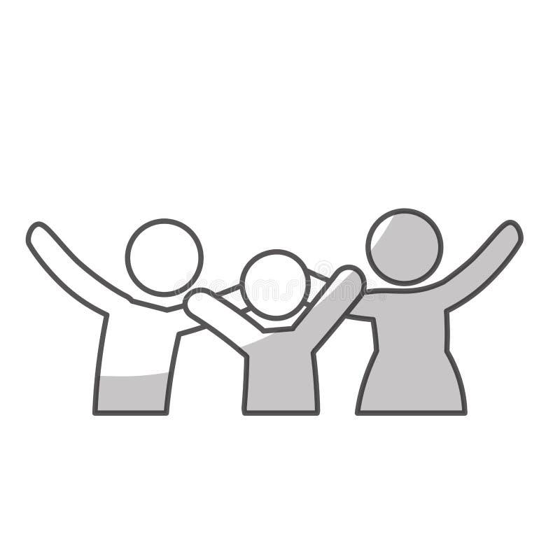 Download Дизайн членов семьи иллюстрация вектора. иллюстрации насчитывающей приятельство - 81801218