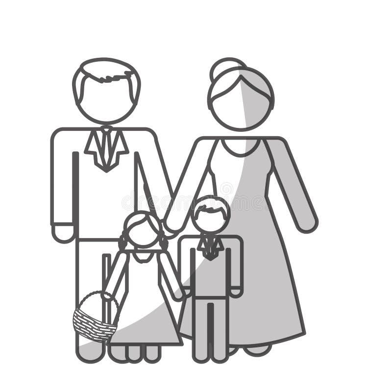 Download Дизайн членов семьи иллюстрация вектора. иллюстрации насчитывающей тип - 81801255
