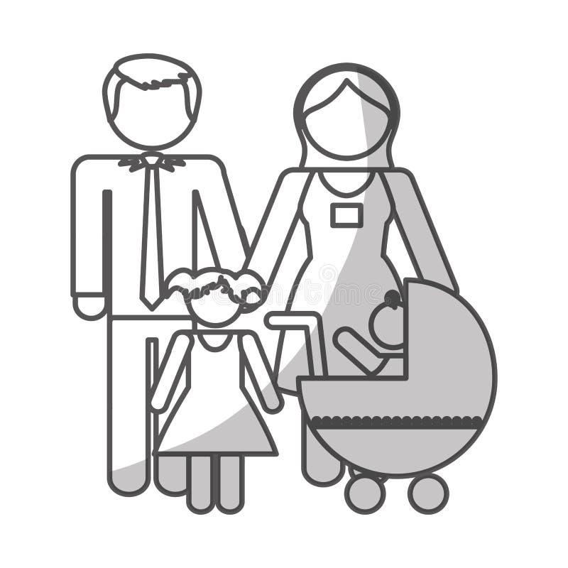 Download Дизайн членов семьи иллюстрация вектора. иллюстрации насчитывающей торжество - 81801440