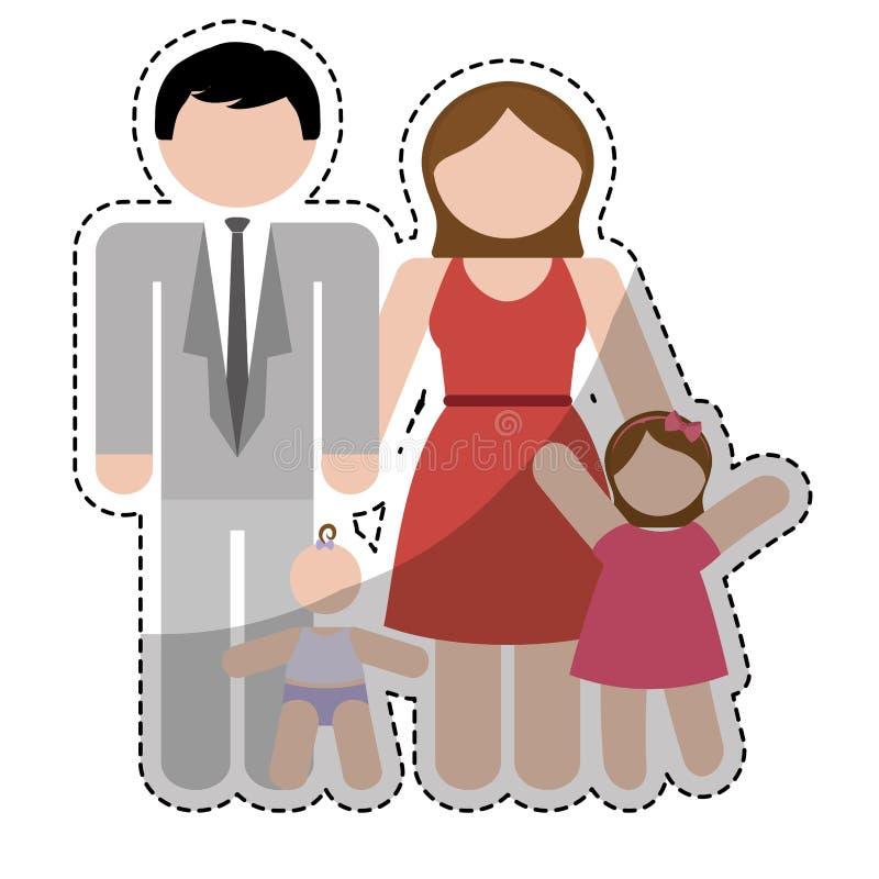 Download Дизайн членов семьи иллюстрация вектора. иллюстрации насчитывающей открытка - 81801638