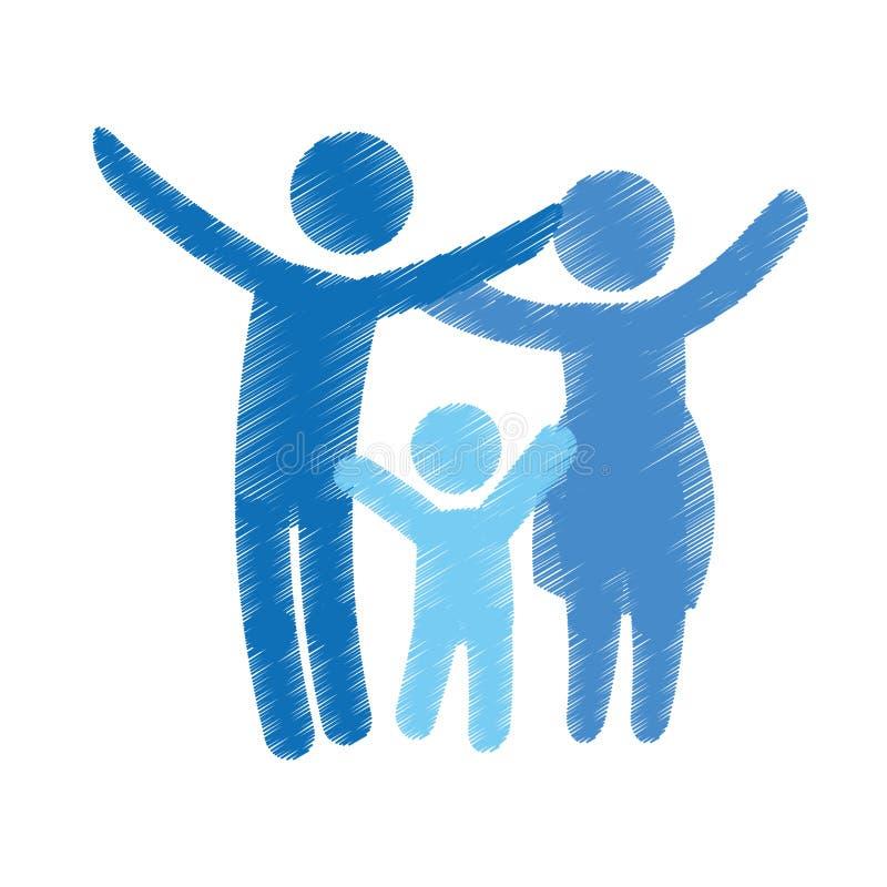 Download Дизайн членов семьи иллюстрация вектора. иллюстрации насчитывающей семья - 81801924