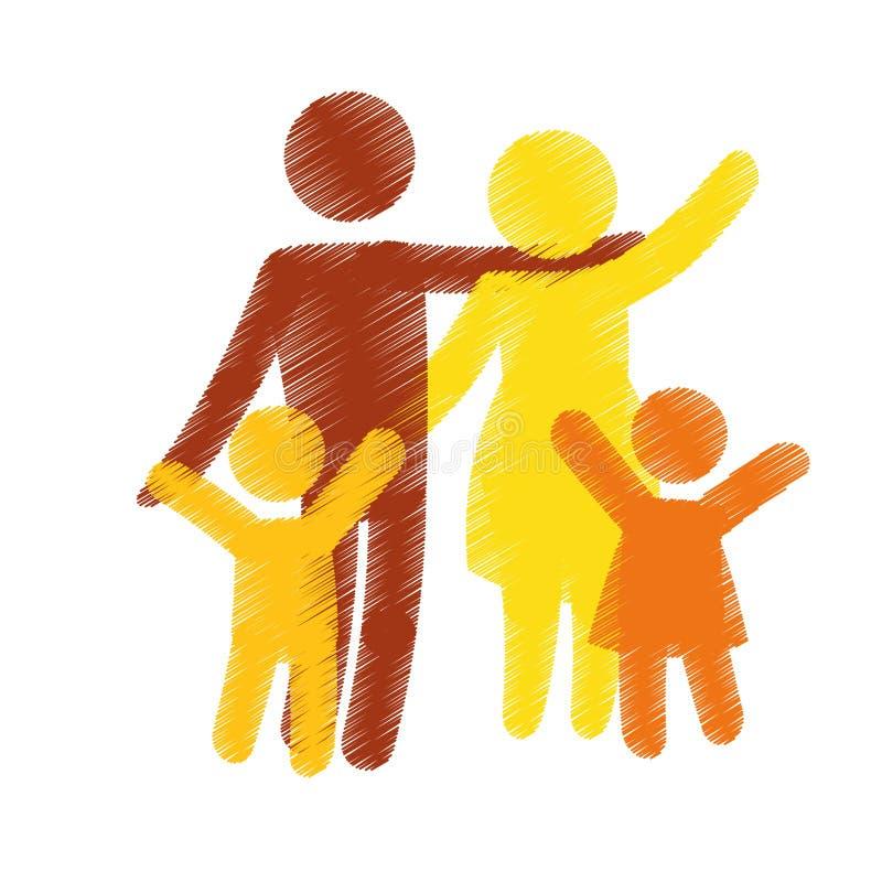 Download Дизайн членов семьи иллюстрация вектора. иллюстрации насчитывающей совместно - 81801950