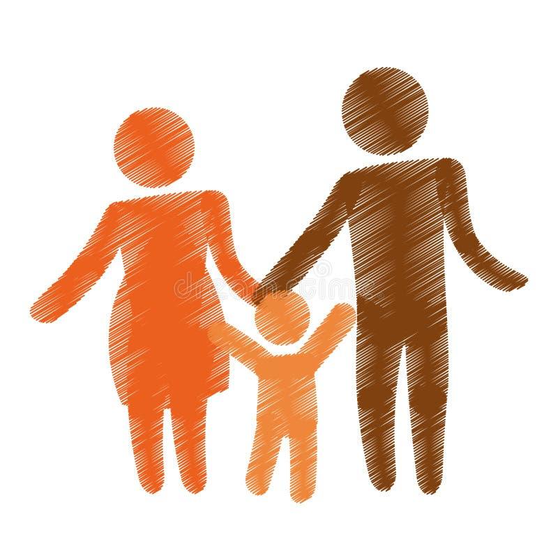 Download Дизайн членов семьи иллюстрация вектора. иллюстрации насчитывающей lifestyle - 81801982