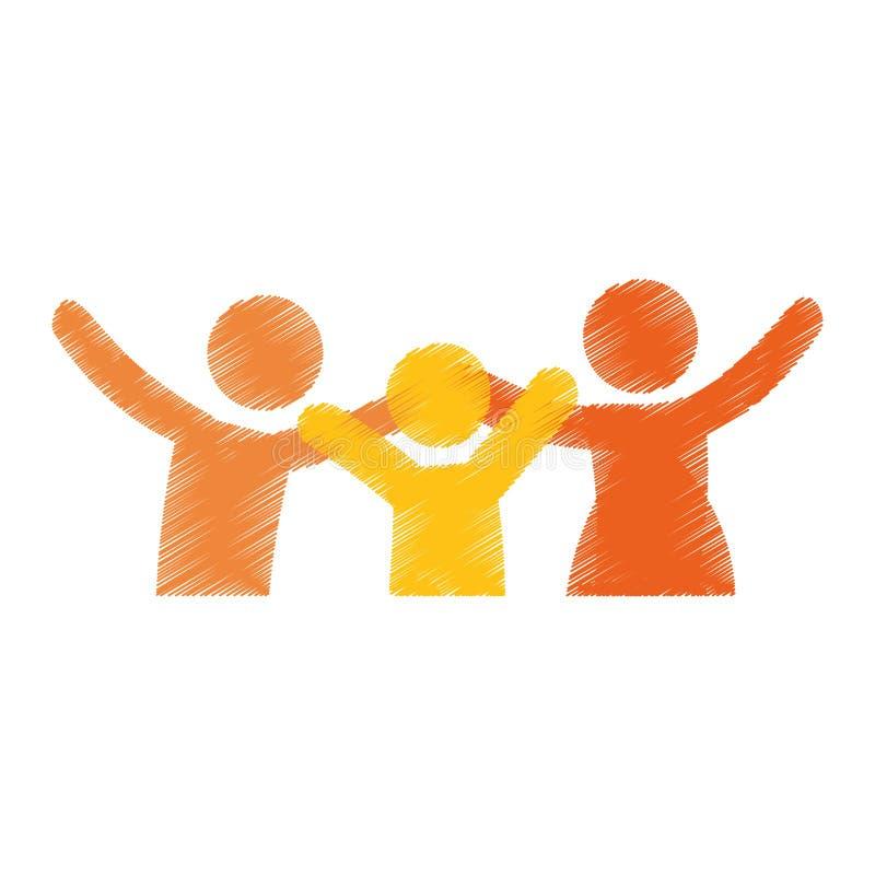Download Дизайн членов семьи иллюстрация вектора. иллюстрации насчитывающей украшение - 81802018