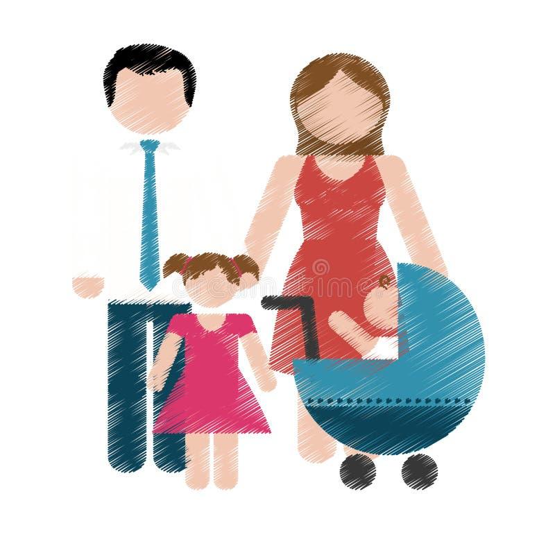 Download Дизайн членов семьи иллюстрация вектора. иллюстрации насчитывающей приглашение - 81802211