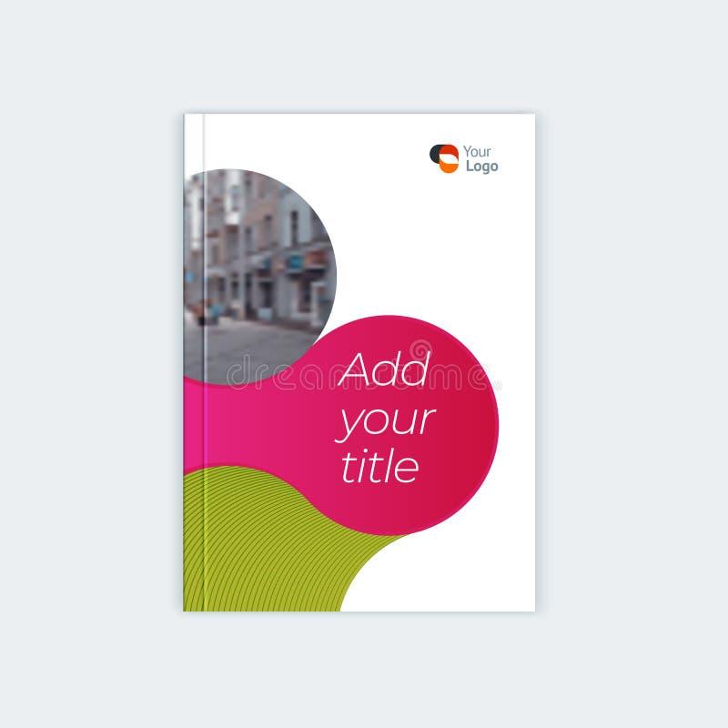 Дизайн шаблона брошюры Minimalistic Рогулька, буклет, шаблон крышки годового отчета Место под названием, текст, фото бесплатная иллюстрация