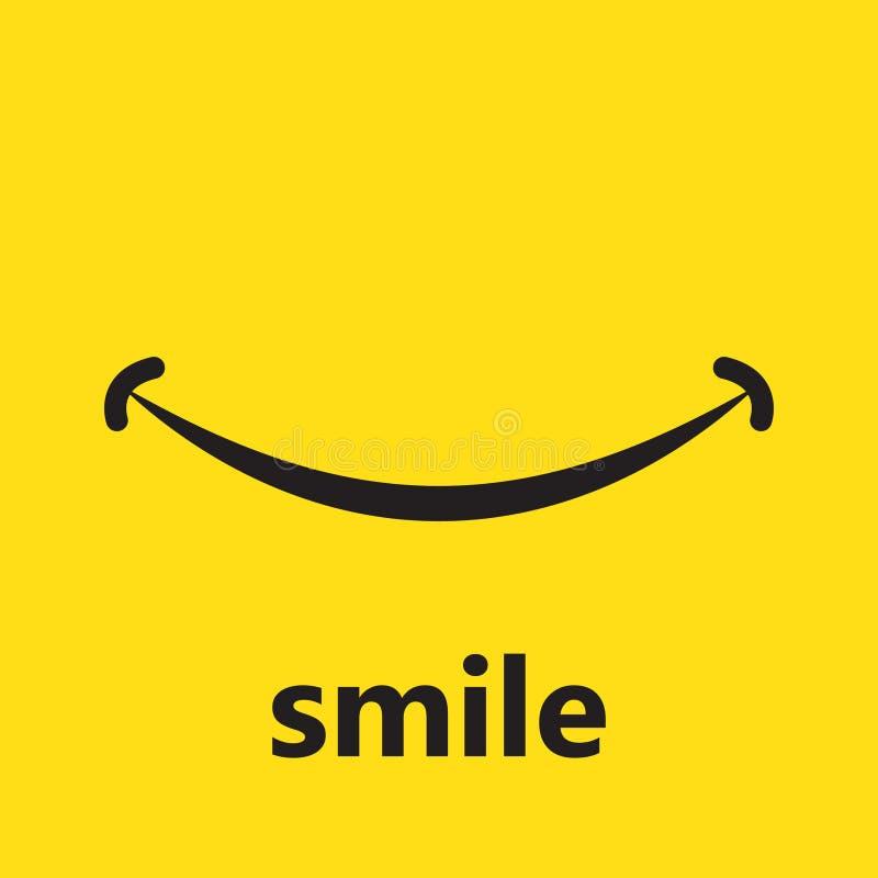 Дизайн шаблона вектора логотипа значка улыбки иллюстрация вектора
