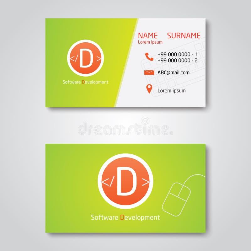 Дизайн шаблона визитной карточки вектора современный плоский бесплатная иллюстрация