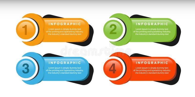 Дизайн шаблона дела infographic с соединенными элементами круга иллюстрация штока