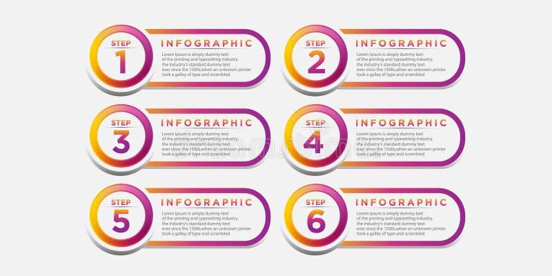 Дизайн шаблона дела infographic с соединенными элементами круга бесплатная иллюстрация