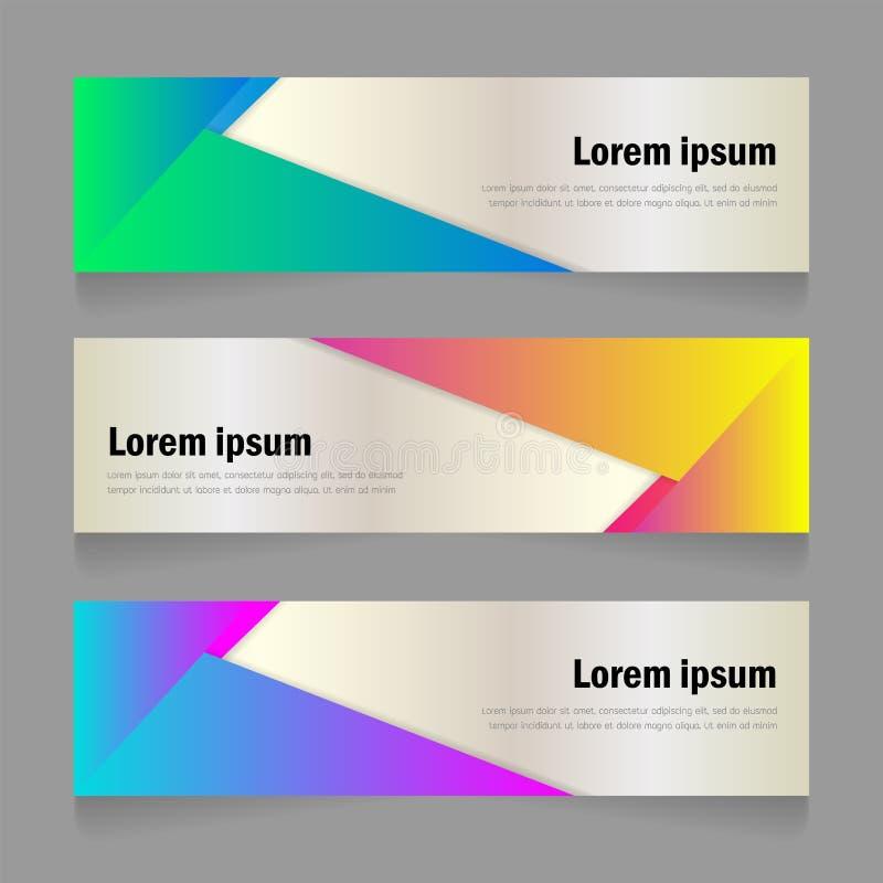 Дизайн шаблона знамени формы яркого конспекта градиента цвета современный иллюстрация вектора
