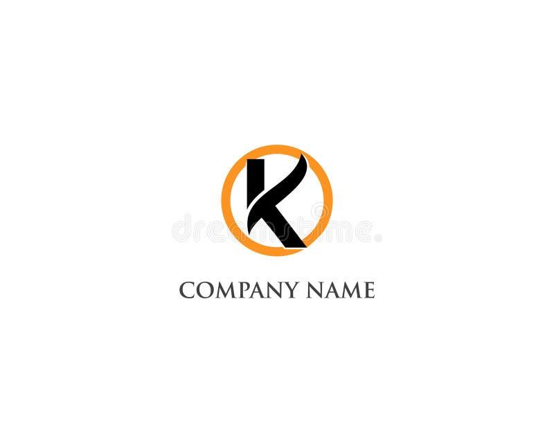 Дизайн шаблона значков и логотипов вектора письма k бесплатная иллюстрация