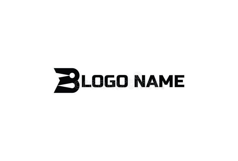 Дизайн шаблона логотипа b письма иллюстрация вектора