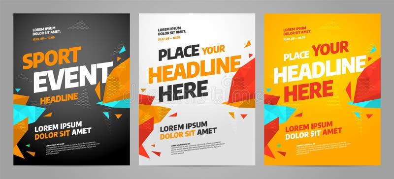 Дизайн шаблона плаката плана для спортивного мероприятия