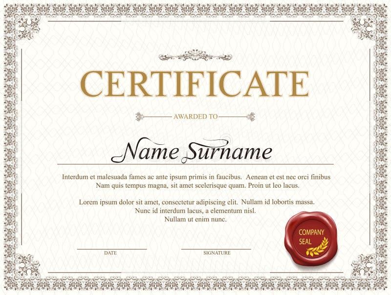 Дизайн шаблона сертификата бесплатная иллюстрация