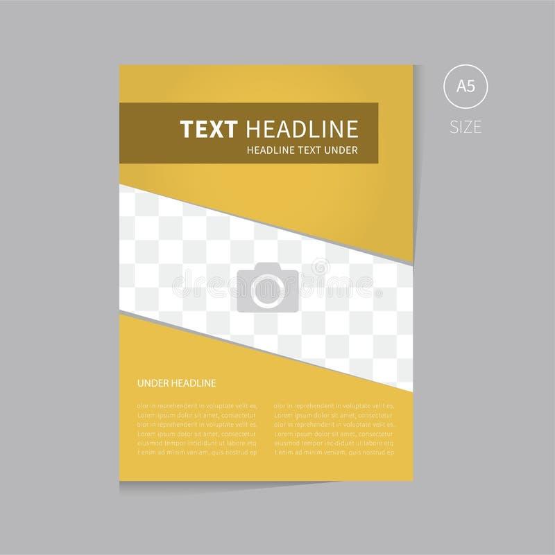 Дизайн шаблона брошюры вектора в золоте бесплатная иллюстрация