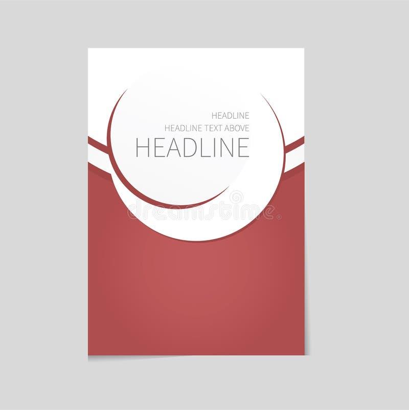 Дизайн шаблона брошюры вектора бесплатная иллюстрация
