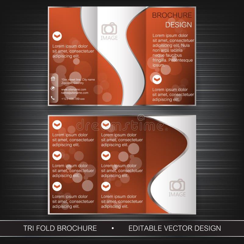 Дизайн шаблона, брошюры или крышки рогульки дела trifold иллюстрация штока