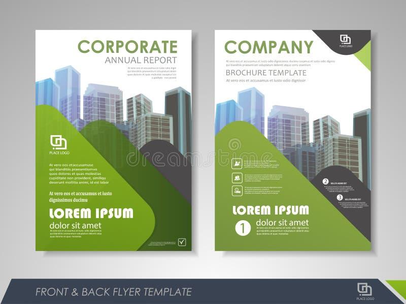 Дизайн шаблона брошюр и рогулек иллюстрация вектора