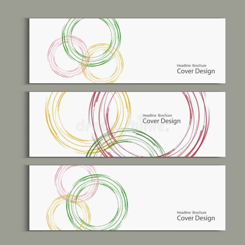 Дизайн шаблона конспекта знамени вектора круга иллюстрация вектора
