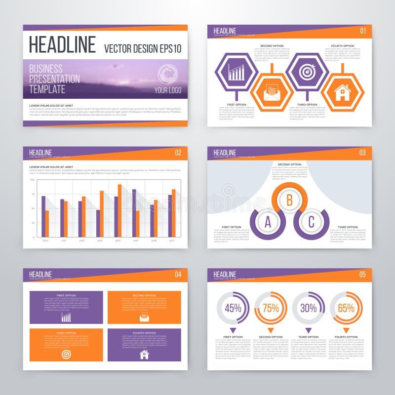 Дизайн шаблона представления Infographics плоский иллюстрация штока