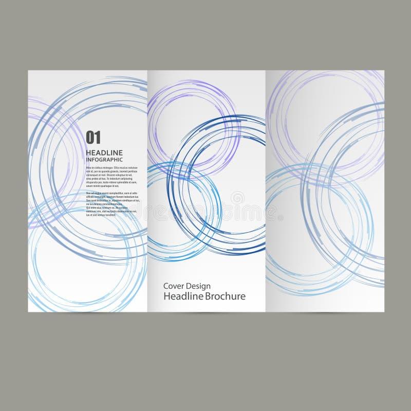 Дизайн шаблона рогульки брошюры годового отчета вектора круга, план обложки книги, абстрактные шаблоны представления бесплатная иллюстрация