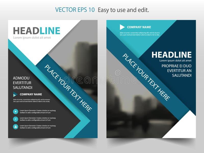 Дизайн шаблона рогульки брошюры листовки годового отчета вектора голубой черноты, дизайн плана обложки книги, абстрактное предста бесплатная иллюстрация