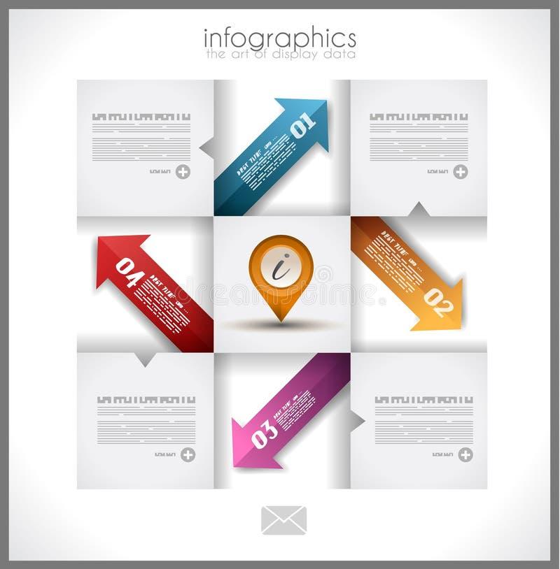 Дизайн шаблона Infographic - первоначально geometrics иллюстрация штока