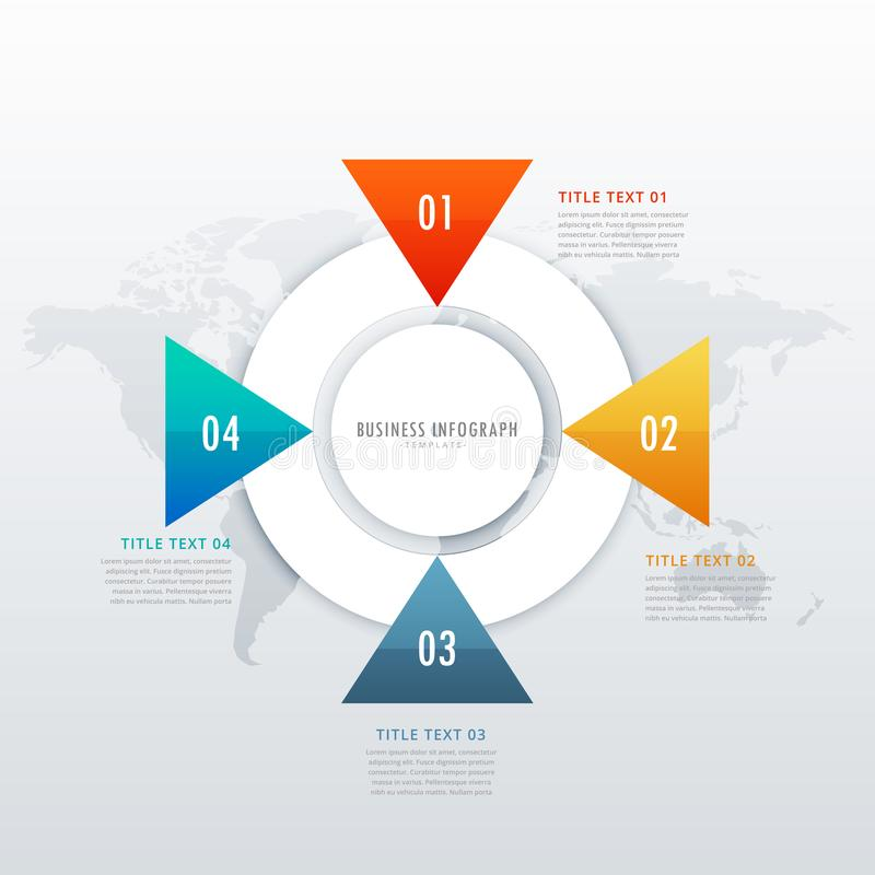 дизайн 4 шагов infographic для визуализирования и workflo данных иллюстрация штока