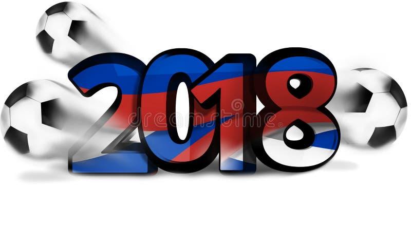 Дизайн шарика футбола футбола иллюстрации 3d России 2018 смелейший бесплатная иллюстрация