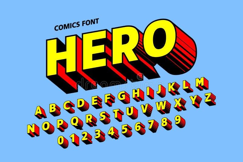 Дизайн шрифта стиля комиксов иллюстрация штока