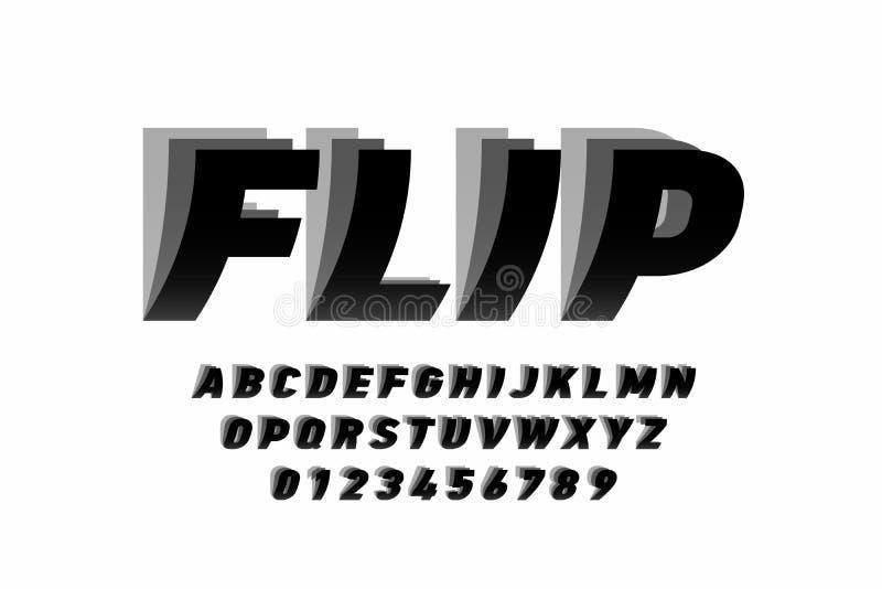Дизайн шрифта стиля сальто стоковые фотографии rf