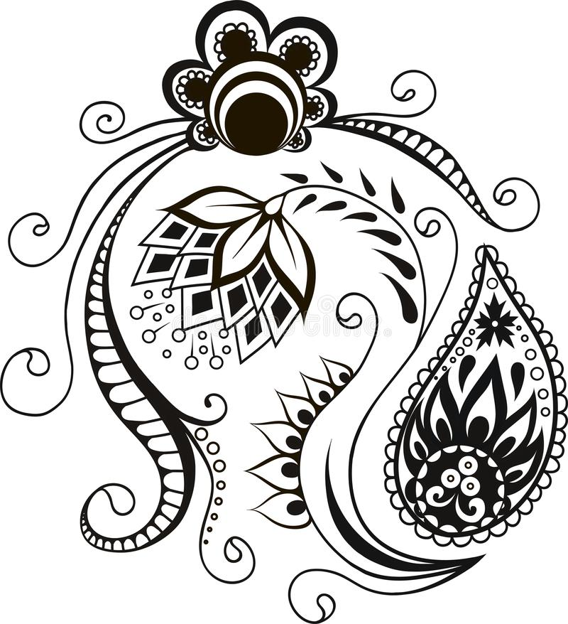 Дизайн элементов вектора орнаментальный декоративный бесплатная иллюстрация