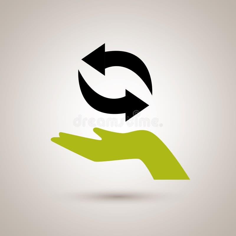 Дизайн энергии Eco стоковое изображение rf