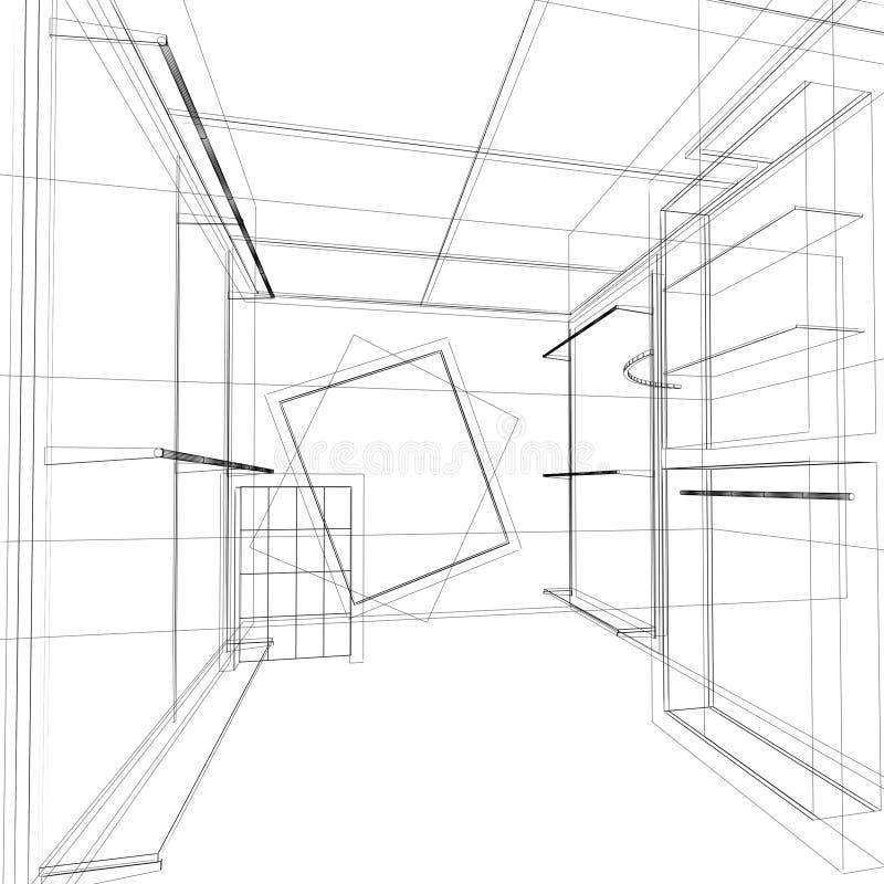 Download Дизайн эскиза внутреннего магазина Стоковое Изображение - изображение насчитывающей рамка, мебель: 81813699