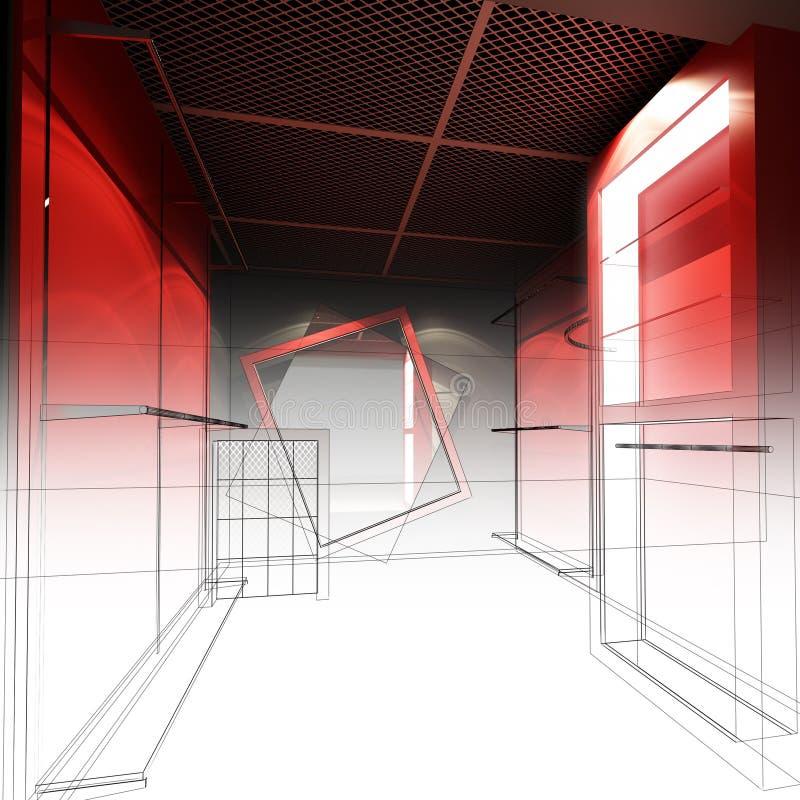 Download Дизайн эскиза внутреннего магазина Иллюстрация штока - иллюстрации насчитывающей розница, план: 81813730