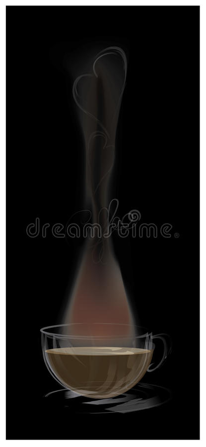 Download Дизайн эскиза влюбленности кофе Стоковое Изображение - изображение насчитывающей слово, логос: 41650339