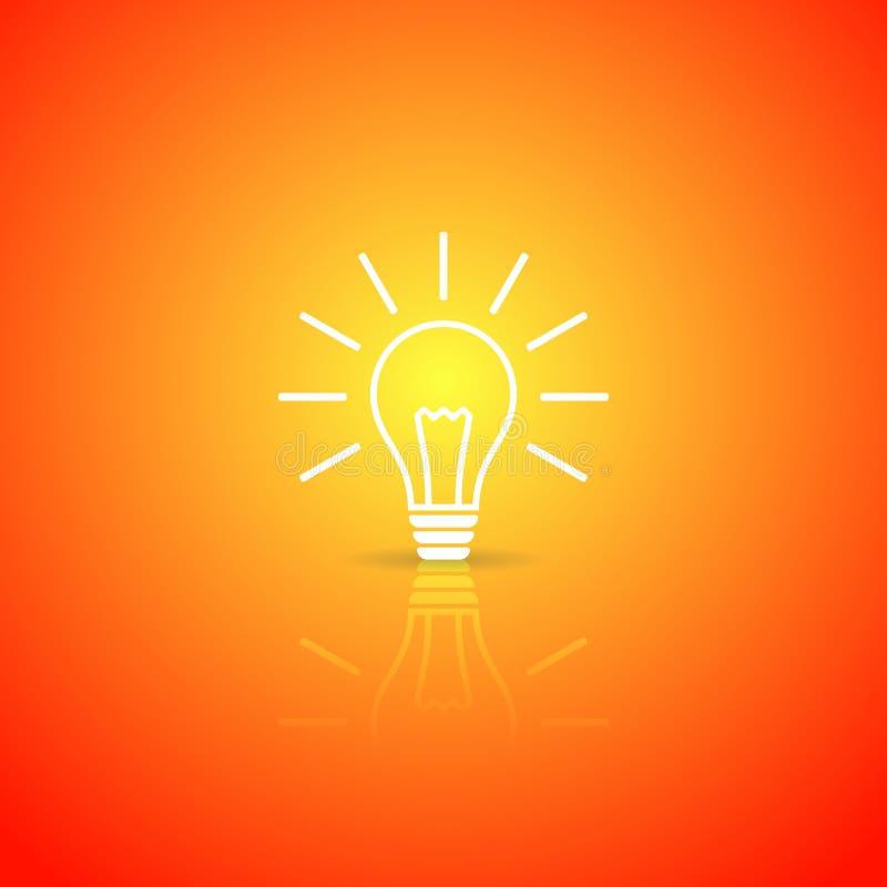 Дизайн электрической лампочки бесплатная иллюстрация