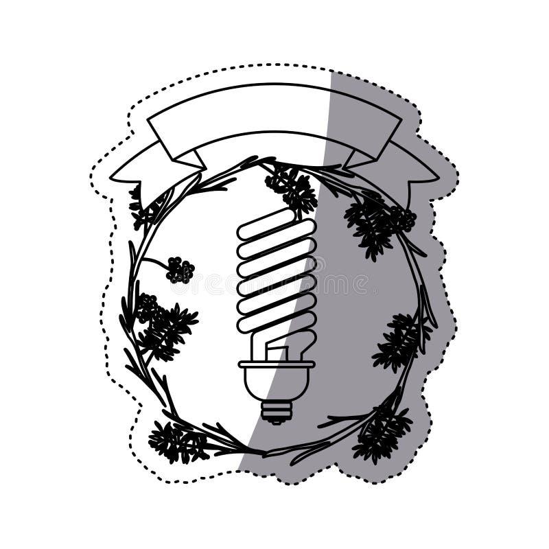 Дизайн электрической лампочки иллюстрация штока