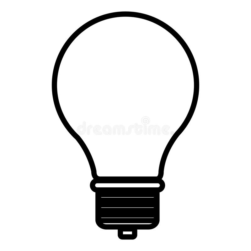 Дизайн электрической лампочки иллюстрация вектора