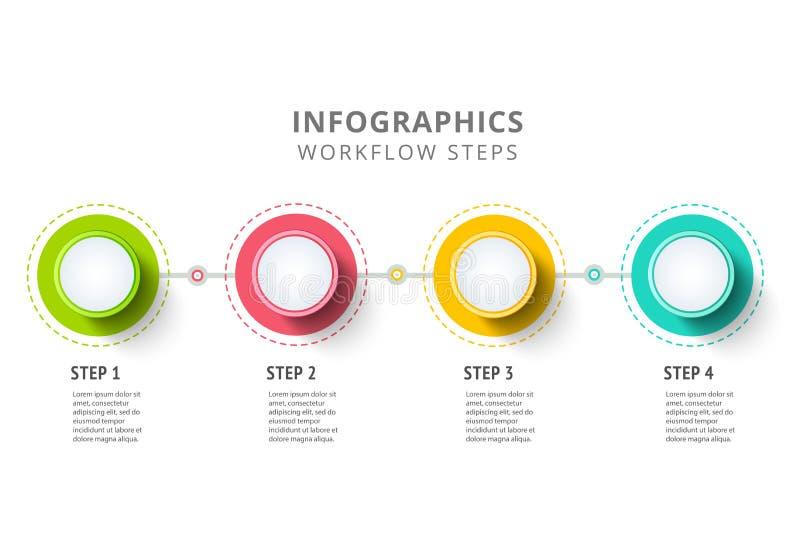 Дизайн элементов infographics круга Абстрактный поток операций дела иллюстрация вектора