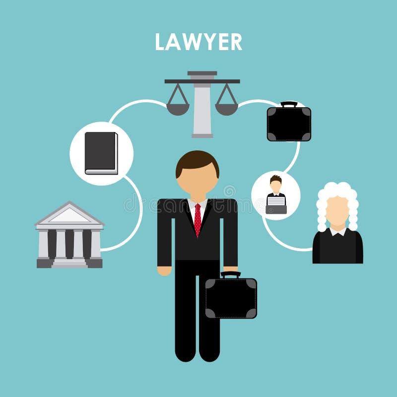Дизайн юриста иллюстрация штока