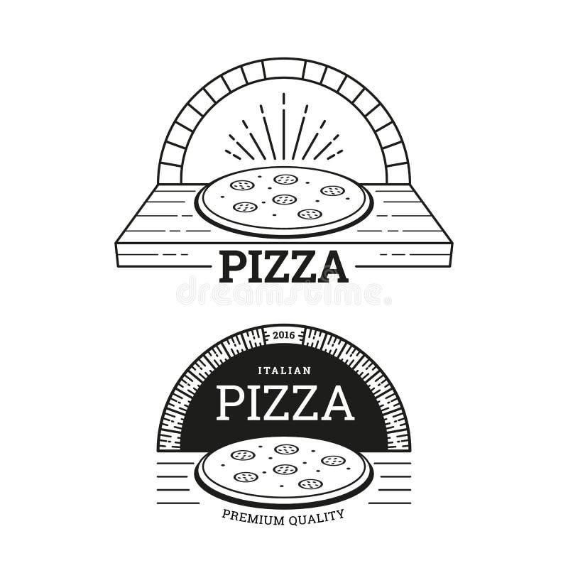 Дизайн ярлыков пиццы иллюстрация штока