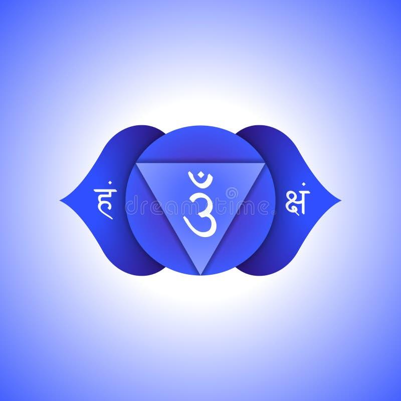 Дизайн Ajna chakra вектора плоский бесплатная иллюстрация